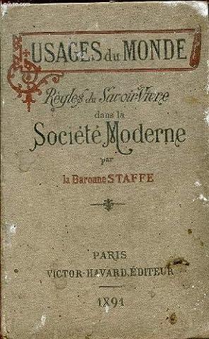 REGLES DE SAVOIR VIVRE DANS LA SOCIETE MODERNE / COLLECTION