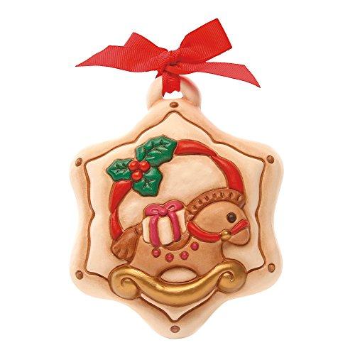 Thun Formella Natale Stella con Cavalluccio Formelle, Ceramica, Variopinto