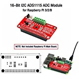 16-Bit I2C ADS1115 ADC Module, for Raspberry Pi 3/2/B.