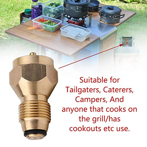 - liekas Outdoor Camping Stove Refill Adapter Gas Picnic Barbecue BBQ Cooking Gas Propane Regulator Valve Accessory