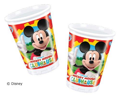 OUSE * für Party und Geburtstag von DISNEY // Kindergeburtstag Kinder Feier Fete Set Pappbecher Partybecher Cups Micky Einweg (Mickey-maus-party Becher)