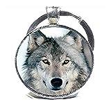 Llavero, diseño de lobo, lobo cadena de clave, llavero llavero con encanto del lobo, lobo,...