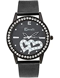 Cavalli Analogue Black Dial Watch for Women and Girl - CW212-0001