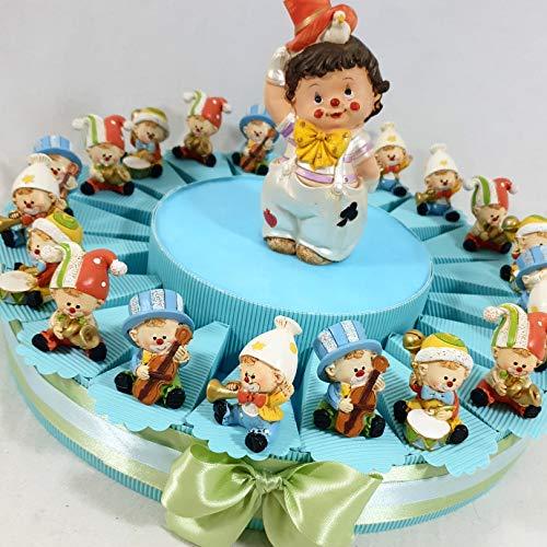 Sindy Bomboniere Torta bomboniere Clown Pagliaccio Ideali per Battesimo, Compleanno, Multicolor, 5 cm Circa
