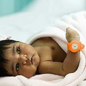 Bempu Temperature Monitor Bracelet for New Born Babies (Pumpkin)