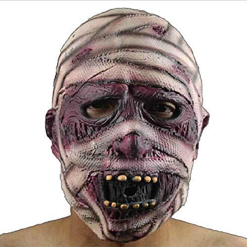 Für Schwangere Mumie Kostüm - Super Black Bull Halloween Mumie Eco Latex Maske Halloween Kostüm Party Party Cosplay Escape Horror Maske