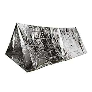 51KxQBNTDdL. SS300  - Parkland® Emergency Foil Tent 2 Person Tube Survival Camping Shelter Emergencies Sporting Outdoor New