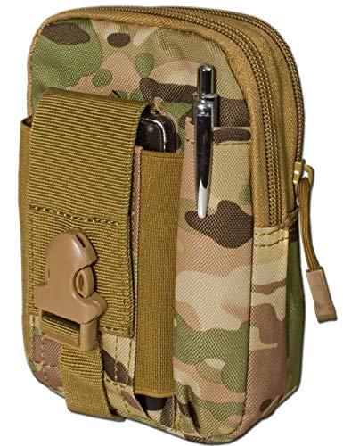 Outdoor Saxx® - Taktische Gürtel-Tasche Hüft-Tasche | Schutz Transport Case für Ausrüstung Handy GPS Tracker MP3 Player Messer | Camouflage - Gürtel Mp3