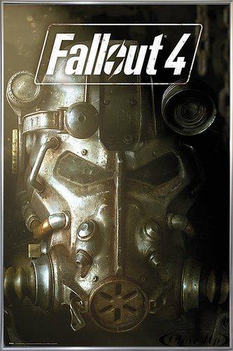 Fallout 4 Poster Maske (93x62 cm) gerahmt in: Rahmen Silber