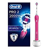 Oral-B Pro 2 2000 3D White Electric Rechargeable Toothbrush Powered by Braun, 1