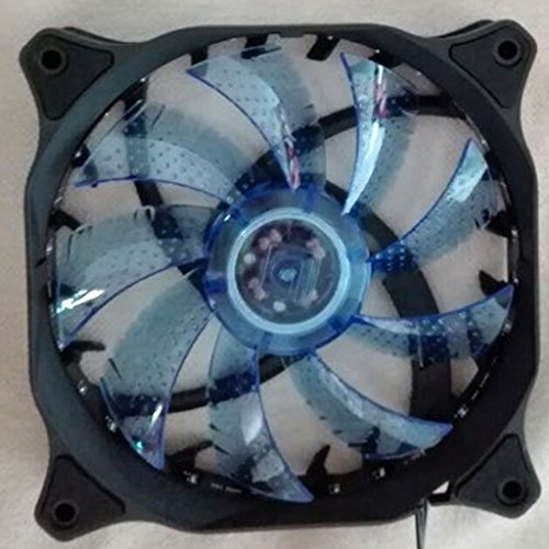 Blue LED 15 Lamp Holder 120mm Fan PC Cover Fan Computer Gaming CPU Cooler  available at amazon for Rs.365