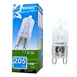10 x Kosnic Energiesparlampe G9 18W = 25W, dimmbar, Eco-Halogen Leuchtmittel Energieeffizienzklasse C 205 lm