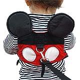 Yimidear Sac a Dos Harnais de Sécurité Mini Sangle Anti-perte Sangle Pour Bébé Tout-petit Marche Garçons et des Filles (Mickey Mouse Rouge)