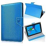 UC-Express Tablet Tasche für Blaupunkt Endeavour 101M Hülle Schutzhülle Carbon Case Cover, Farben:Blau