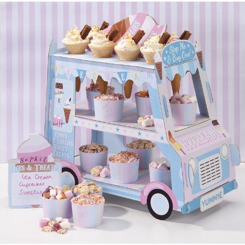 Camión decorativo vintage para dulces y helado