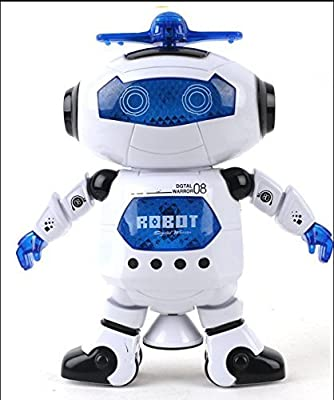 Smart Robot,KINGBOT Digital 08 Electronic Walking Dancing Robot Toy with Music Light for Kids