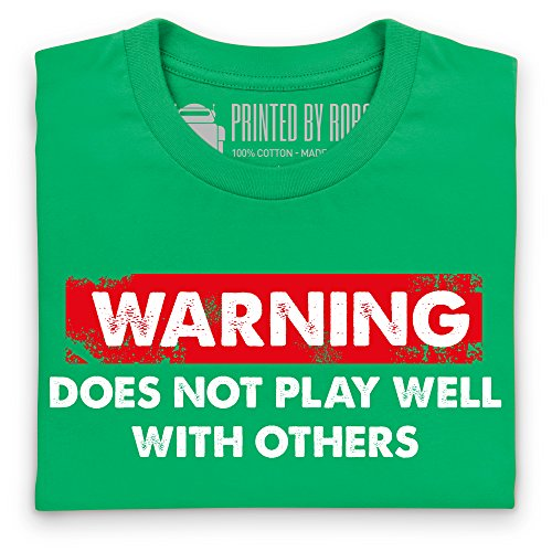 Does Not Play Well With Others T-Shirt, Herren Keltisch-Grn
