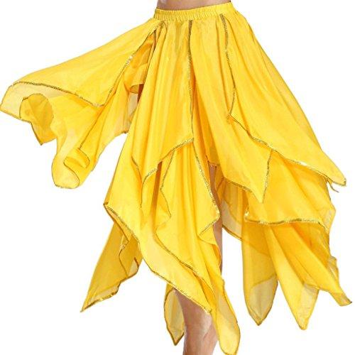 Astage Damen Fairy Bauchtanz Lange Rock Kleid Bauchtanz Kostüm Halloween Gelb