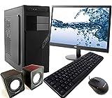 PC DESKTOP INTEL QUAD CORE 2,4GHZ WINDOWS 10 PROFESSIONAL 64 BIT CASE ATX...