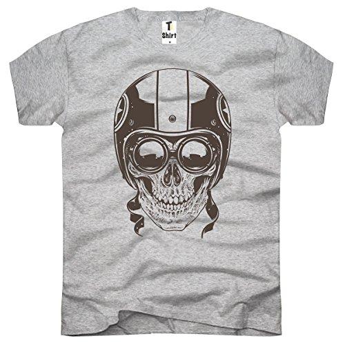 TEE-Shirt, Herren T-Shirt mit Aufdruck. Coole Designer-Drucke.Shirt mit Totenkopf Motiv. Größe XXXL,Grau