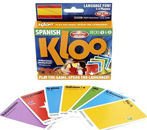 Jeux de cartes linguistiques de KLOO: Apprenez à parler espagnol