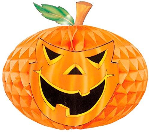 WIDMANN-Globo Waffelmuster Kürbis Riesen unisex-adult, Orange, One Size, - Riesen Kürbis Kostüm