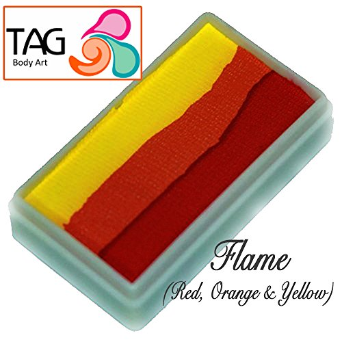 TAG Face Paint 1-Stroke Split Cake - Flame (30g) by TAG Body Art