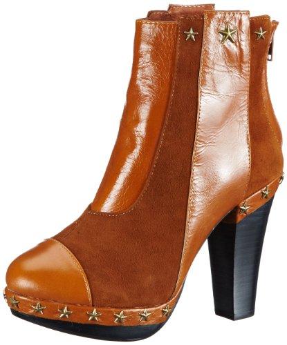 Lise Lindvig  MASCHA, bottes & bottines femme Orange  - Orange (Orange)