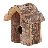 B Blesiya Nistkasten Vogelhäuschen aus Holz, Geschenk für Vogelliebhaber/Naturliebhaber
