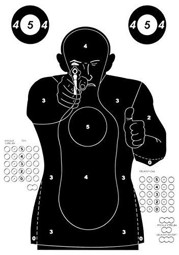 """JOKER AMMO® - Große Airsoft Zielscheiben / Mannscheibe """" Police Training """" - 10 Stück"""