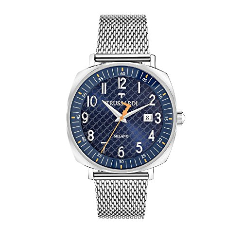 TRUSSARDI Reloj Analógico para Hombre de Cuarzo con Correa en Acero Inoxidable R2453121001