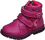 gibra® Winterstiefel Stiefel gefüttert, für Babys Kinder, mit Reißverschluss, pink, Art. 8447, Gr. 20