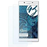 Bruni Schutzfolie für Sony Xperia L1 Folie - 2 x glasklare Displayschutzfolie