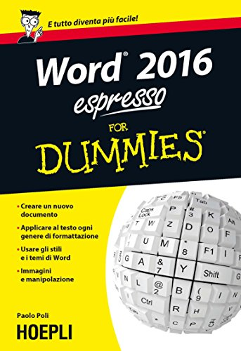 Word 2016 espresso For Dummies