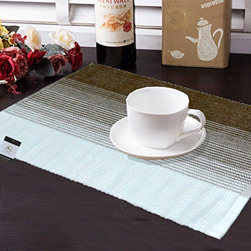 Avioni Premium Cotton Ribbed Table Mats With Table Runner Horizon Collection Export...