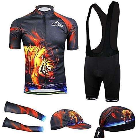 MaMaison007 Ciclismo juego bicicleta bici desgaste camisa hombres camiseta culotte tigre