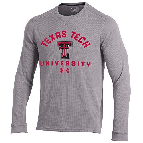 NCAA Texas Tech Red Raiders Men's Waffle Knit Long Sleeve Tee, XX-Large, True Grey Heather