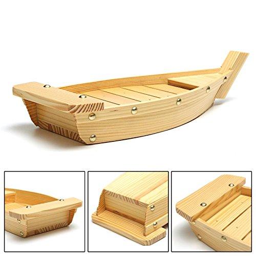 REFURBISHHOUSE 42X17X7,5 cm Japanische Küche Sushi Boote Sushi Werkzeuge Holz Handgemachte Einfache Schiff Sashimi Verschiedene Kalt Gerichte Geschirr Bar