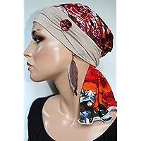 Beanie Mütze Schlauchmütze mit Band Sommermütze little things in life Chemo Cap Hat Chemomütze Mütze bei Krebs Kopfbedeckung Turban