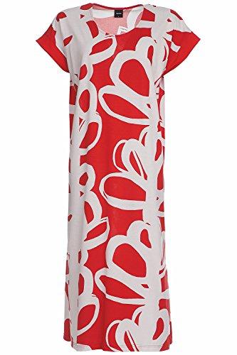 Nanso Verso Langes Nachtkleid, Länge 120cm Damen Red