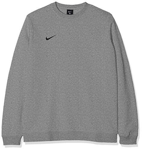 Nike Herren Club19 Sweatshirt, Dark Grey Heather/Black, S College-pullover Sweatshirt