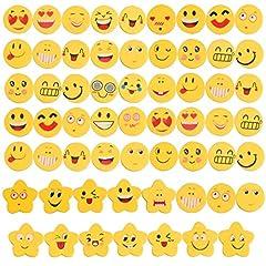 Idea Regalo - 60 pezzi Emoji Emoticon Gomma Cancellare Matita Bomboniera Regalo per bambini (60 emoji-1)