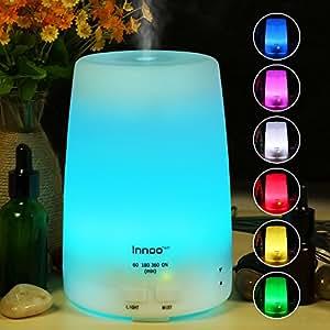 Innoo Tech Diffuseur d'huiles essentielles 300ml Troisème génération du diffuseur aromatique & Brumisateur 4 programmations différentes & 7 couleurs de LED pour la chambre, le SPA, le bureau.
