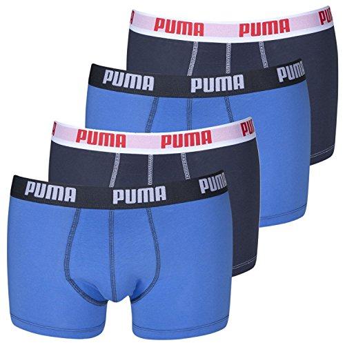 PUMA Herren Boxershorts Unterhosen 521025001 4er Pack - Blue (056)