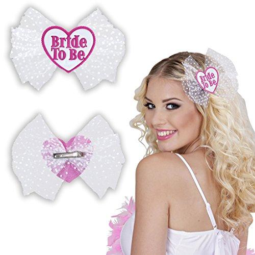 uck Bride to be Haarschmuck Braut Haarklammer Hochzeit Junggesellinnenabschied Haarspange Haarclips Junggesellenabschied Frauen Kostüm Accessoire (Braut Kostüm Für Frauen)