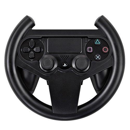 Preisvergleich Produktbild TNP PS4 Gaming Racing Lenkrad – Gamepad Joypad Grip Controller für Sony PlayStation 4 PS4 Schwarz [Playstation 4]