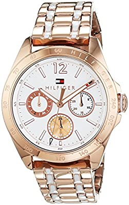 Tommy Hilfiger mujer-reloj deporte cuarzo analógico sofisticado con revestimiento de acero 1781666