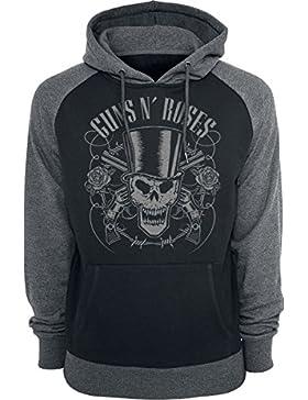 Guns N Roses Skull and Pistols Sudadera con Capucha Negro/Gris