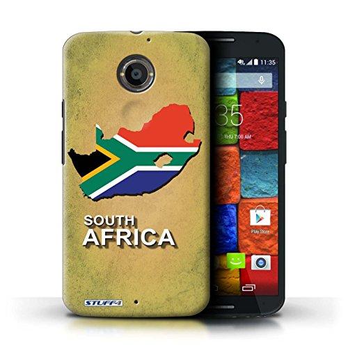 Kobalt® Imprimé Etui / Coque pour Motorola Moto X (2014) / Amérique/Américain/USA conception / Série Drapeau Pays Afrique du Sud/Afrique