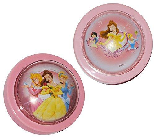 """2 Stk. Nachtlicht """" Disney Princess - Prinzessin """" / magisches Licht LED Schlummerlicht mit Schalter - Nachtlampe ohne Strom Lampe mit Batterie - Prinzessinnen - Kinder Mädchen Baby - Licht"""